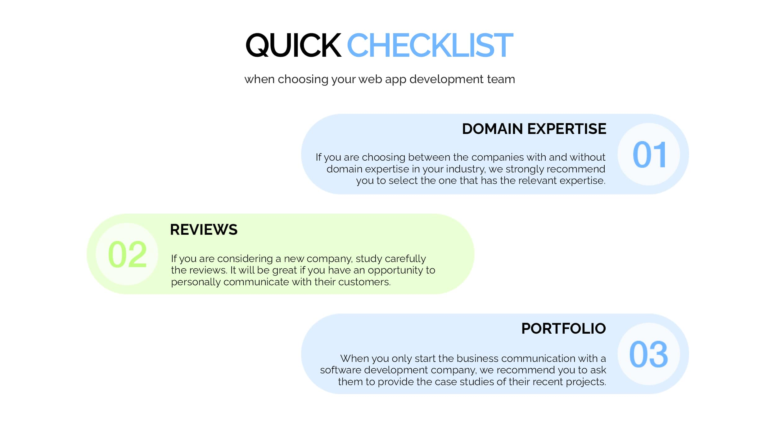 Checklist for choosing web app developers