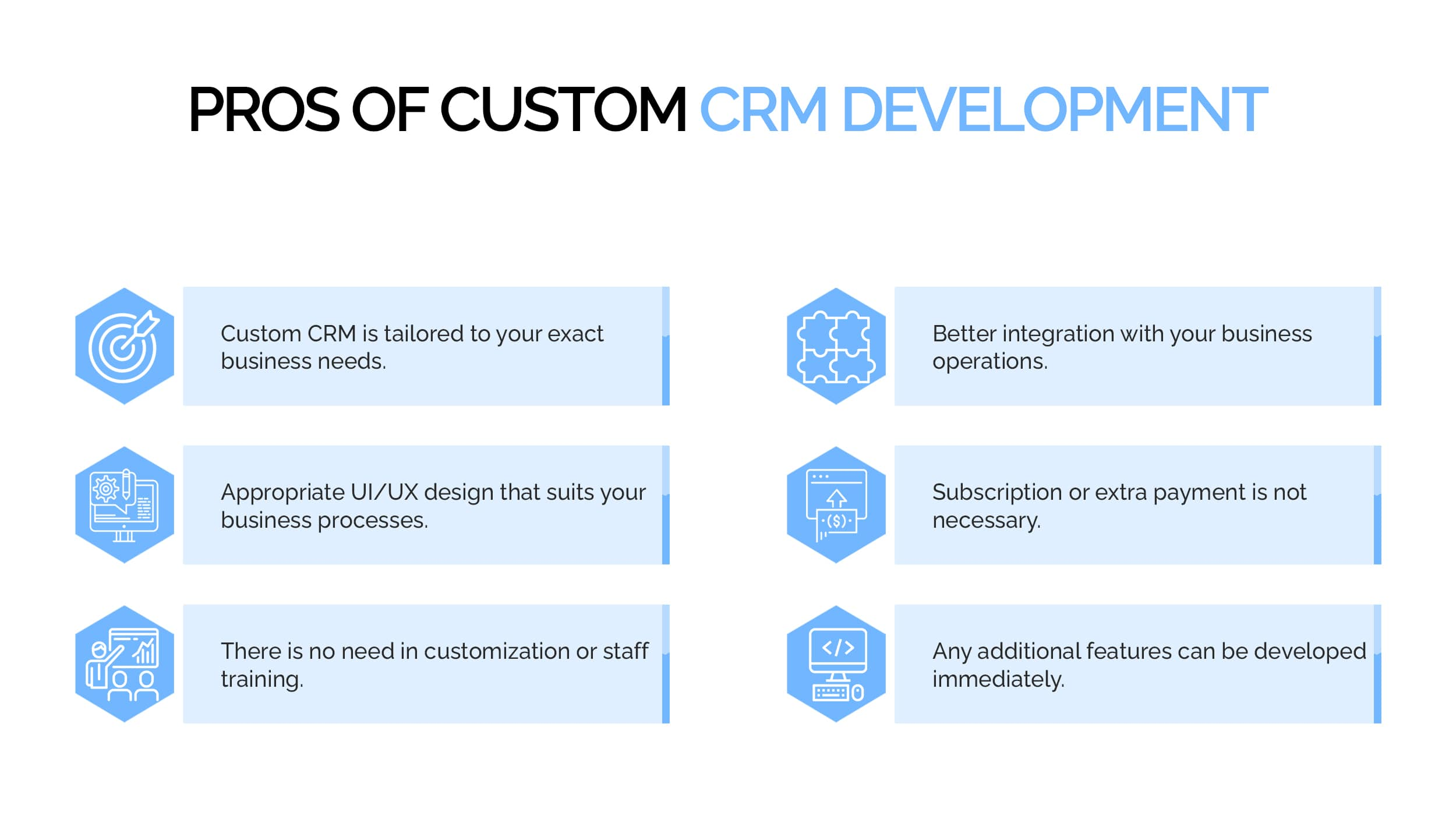 Pros of custom CRM Development