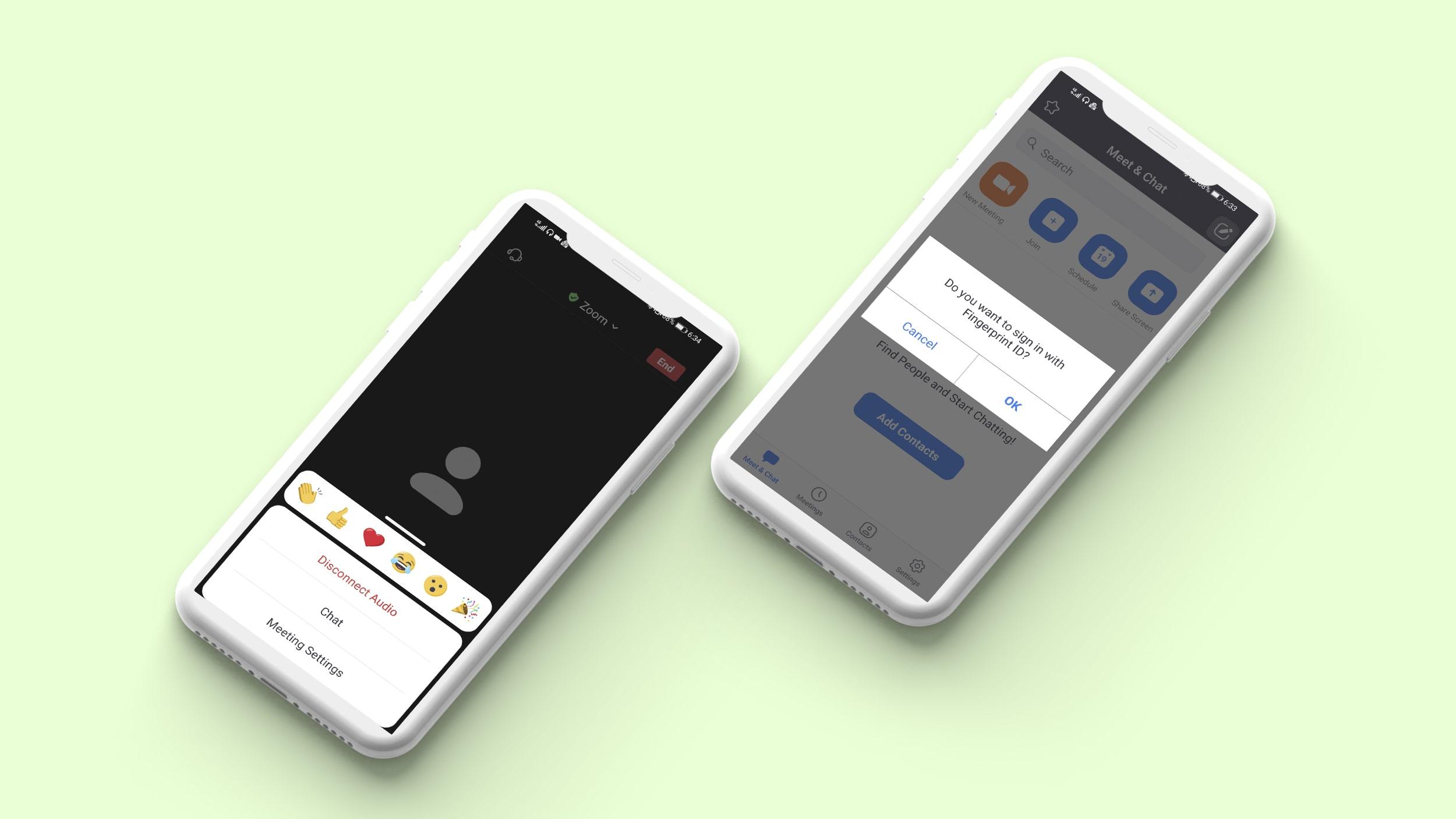 Emojies in video chatting app
