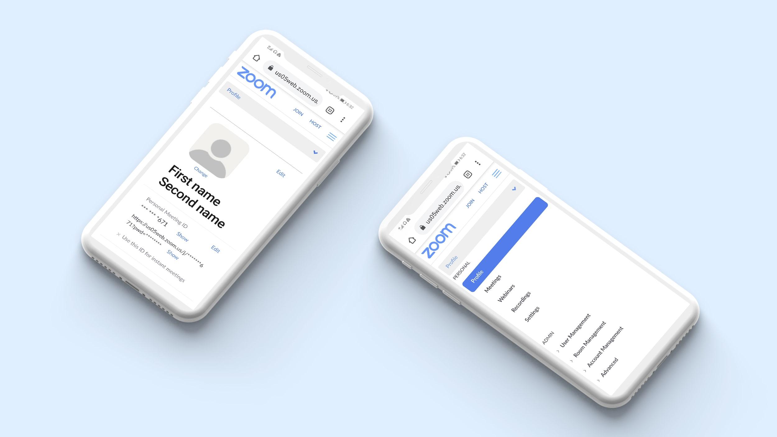 User Profiles in video calling app