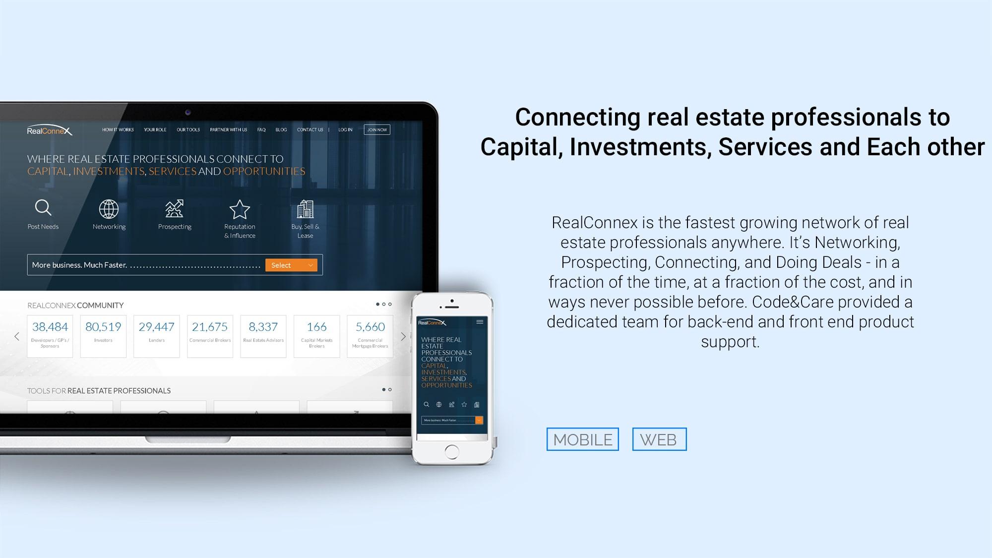 Casy study real estate platform