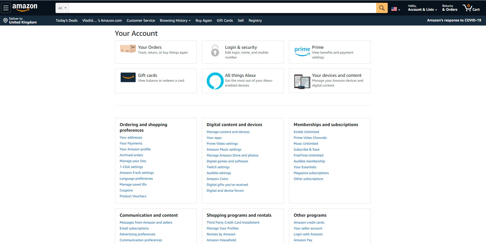 User profiles in Amazon marketplace