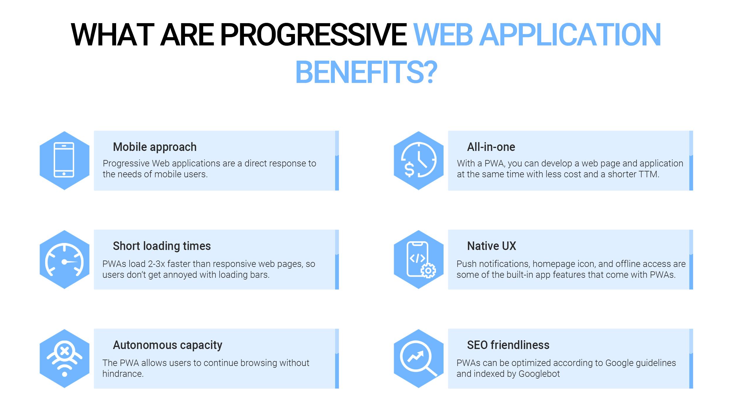 Progressive web app pros