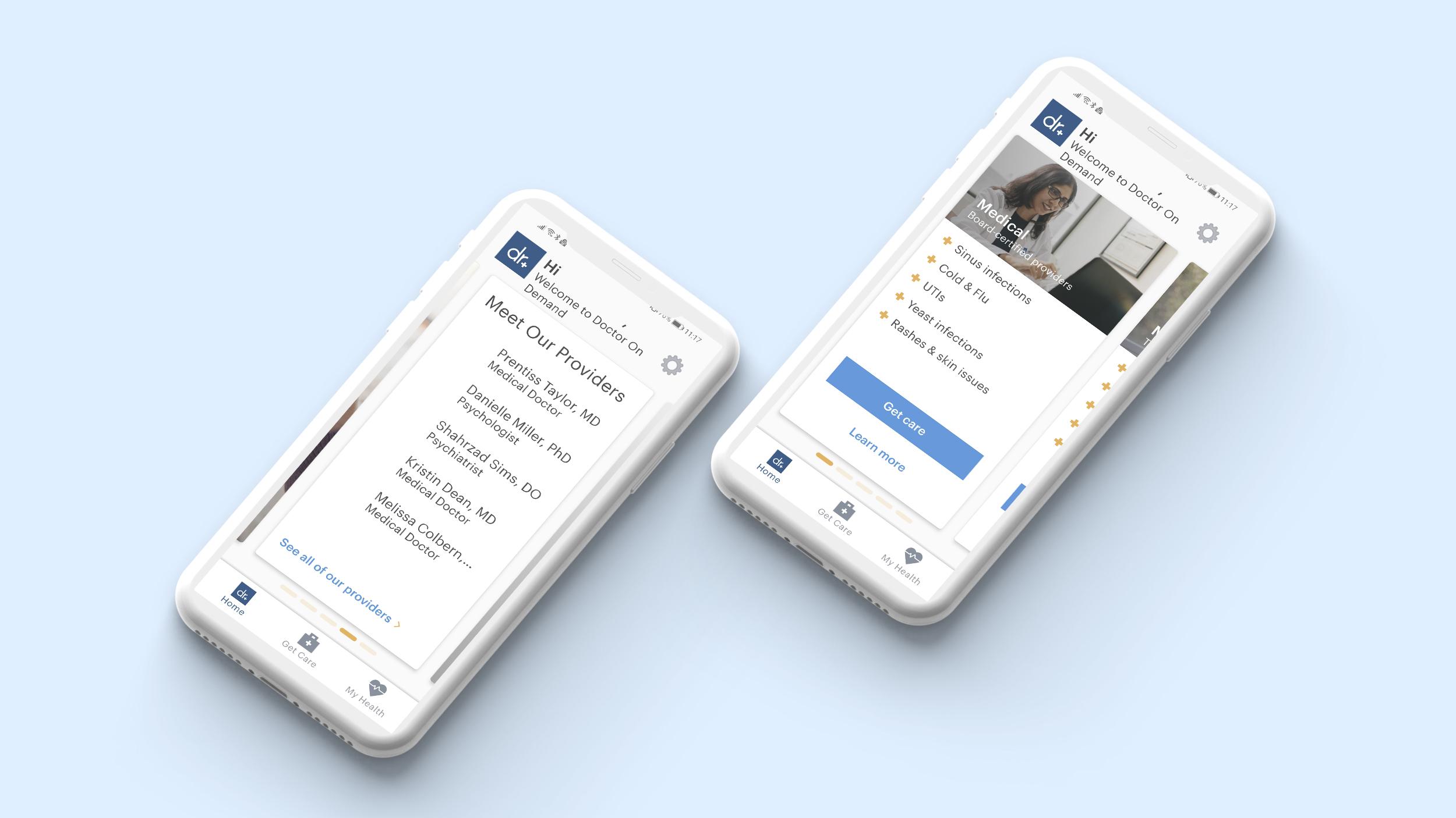 Find doctor via app