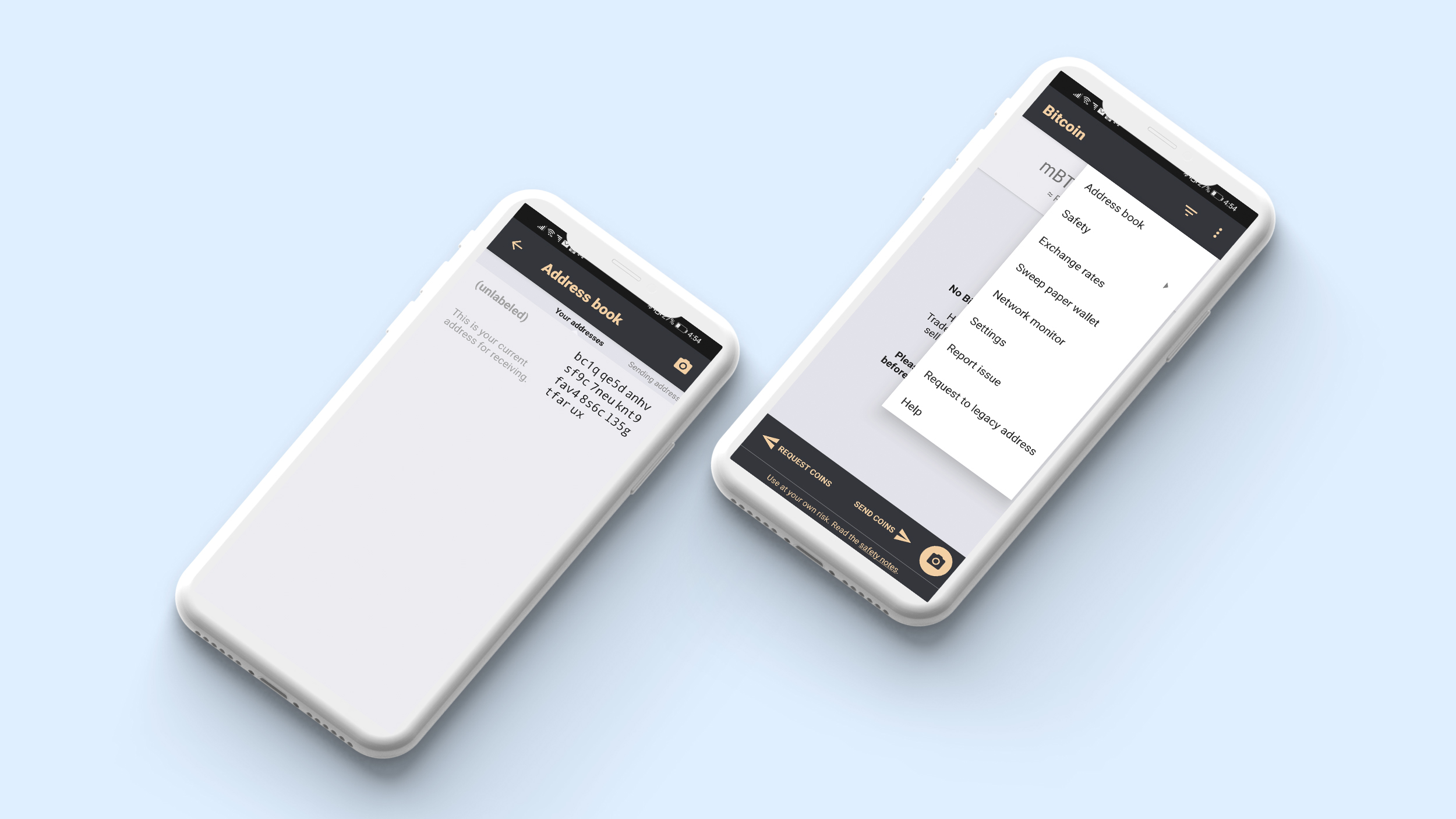 Address book in crypto wallet app