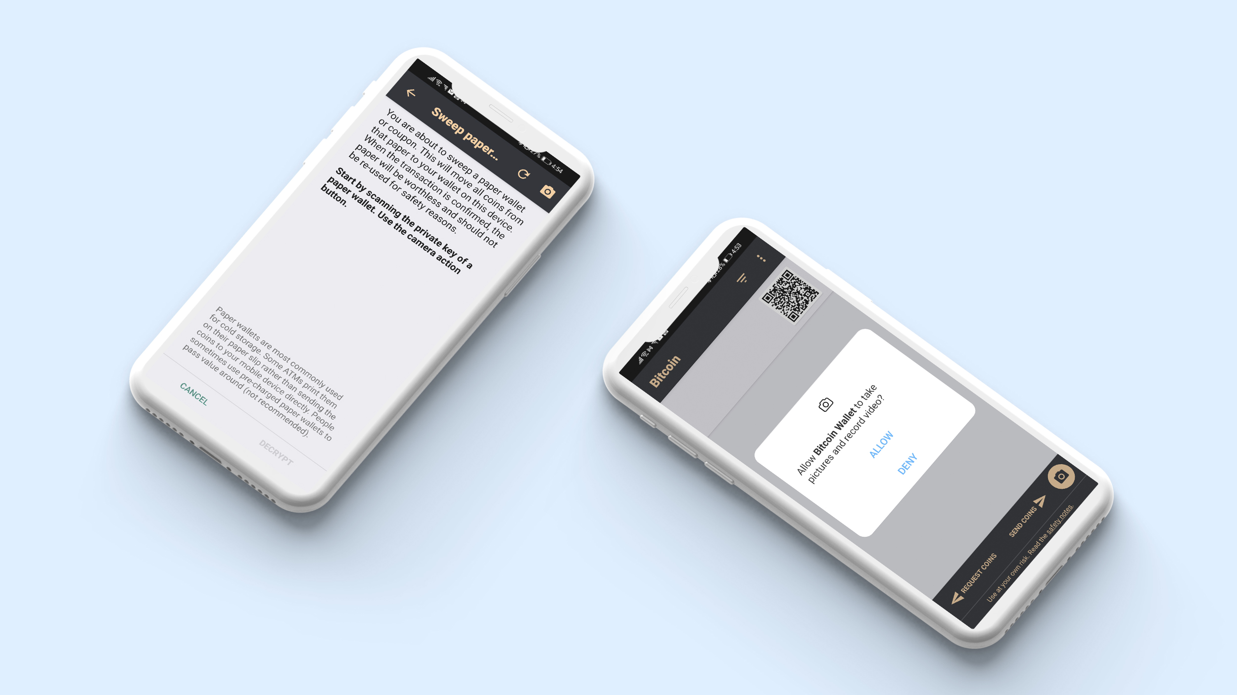 Paper Wallet Import in crypto wallet app