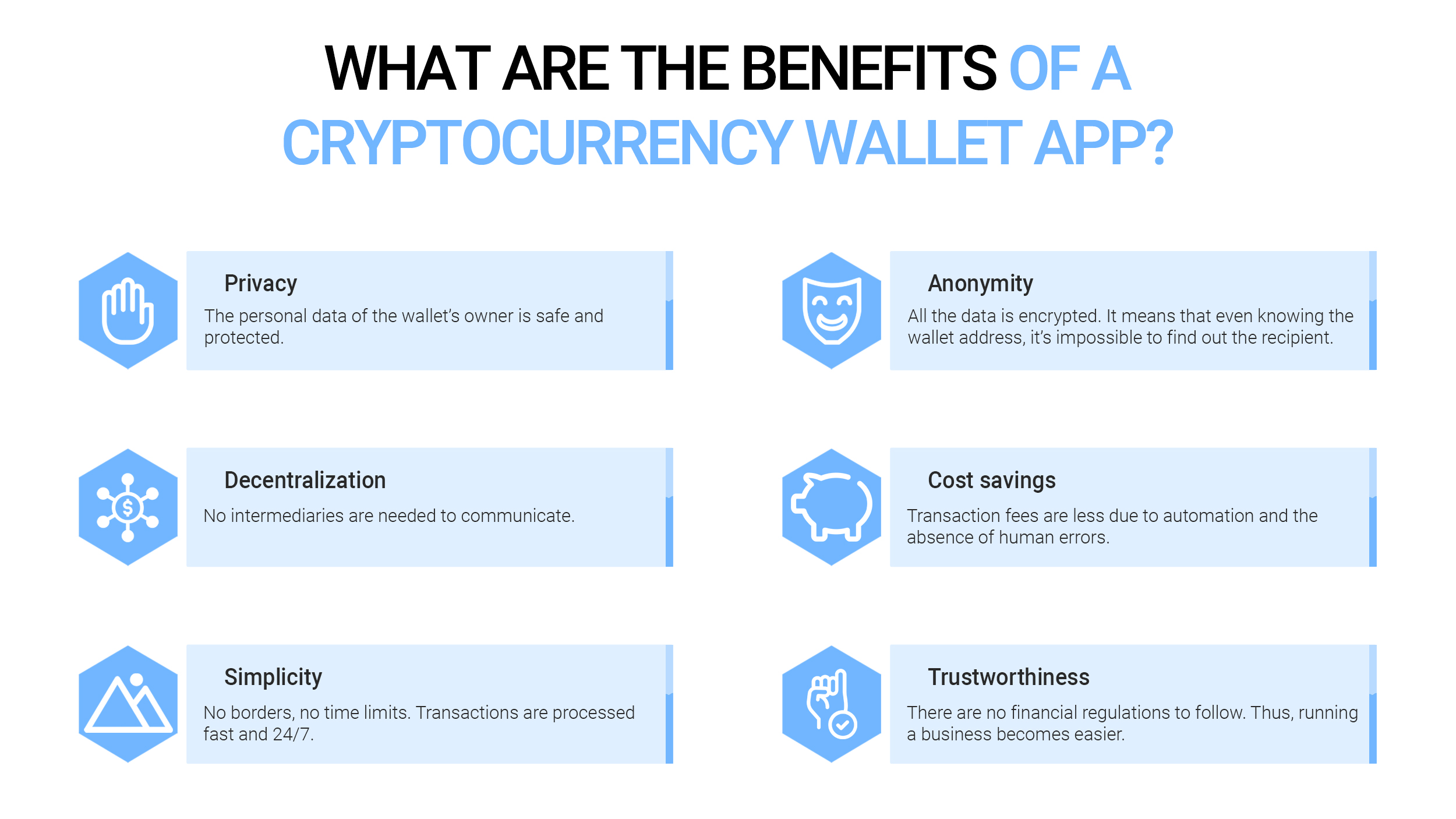 What are the benefits of a cryptocurrency wallet app