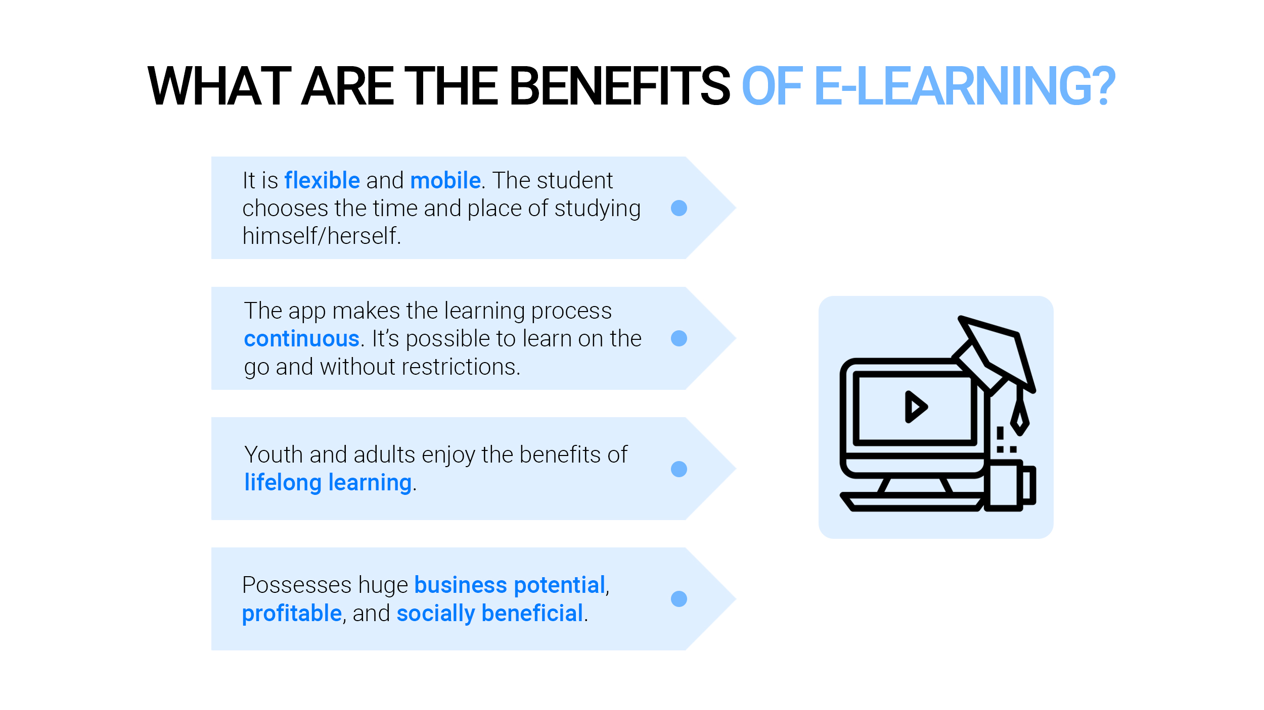 What are the benefits of eLearning