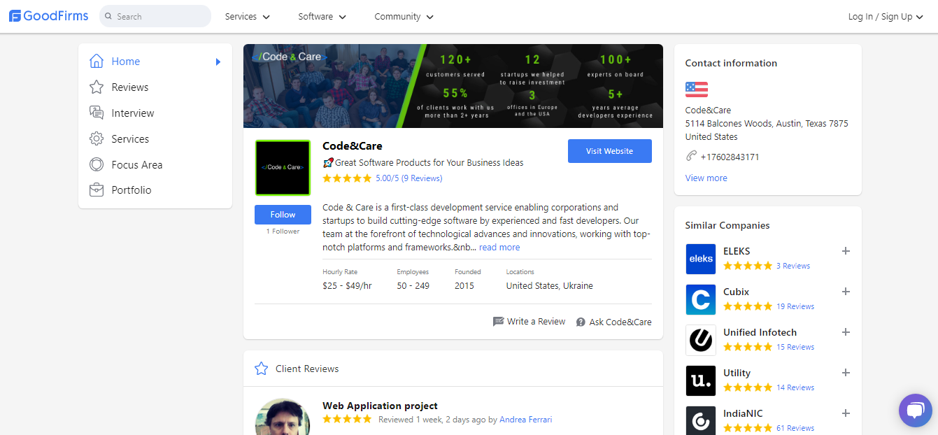 Code&Care Reviews & Profile _ GoodFirms