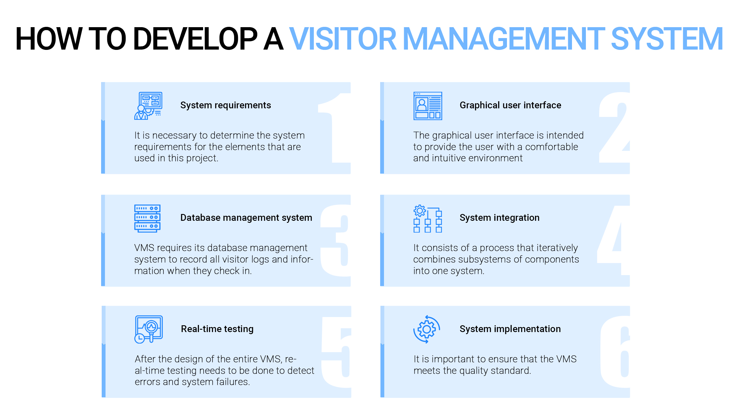 How to develop a visitor management system