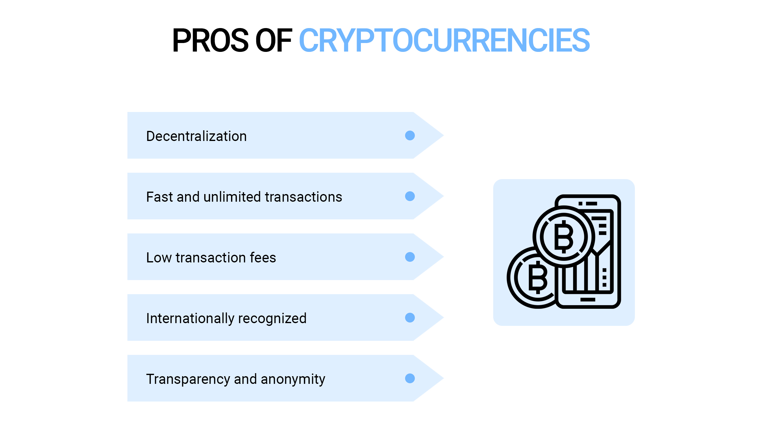 Pros of cryptocurrencies