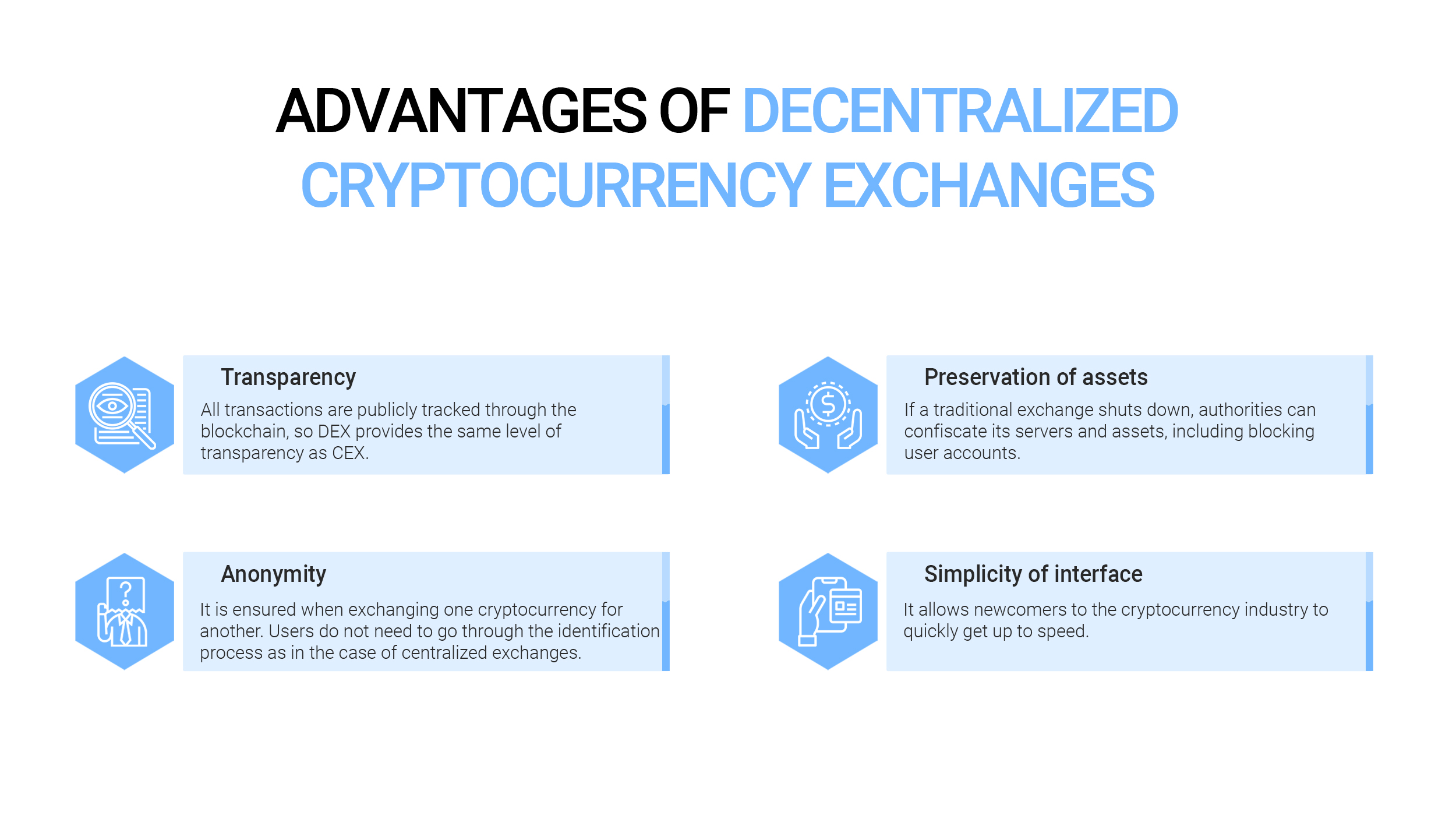 Advantages of Decentralized Cryptocurrency Exchanges