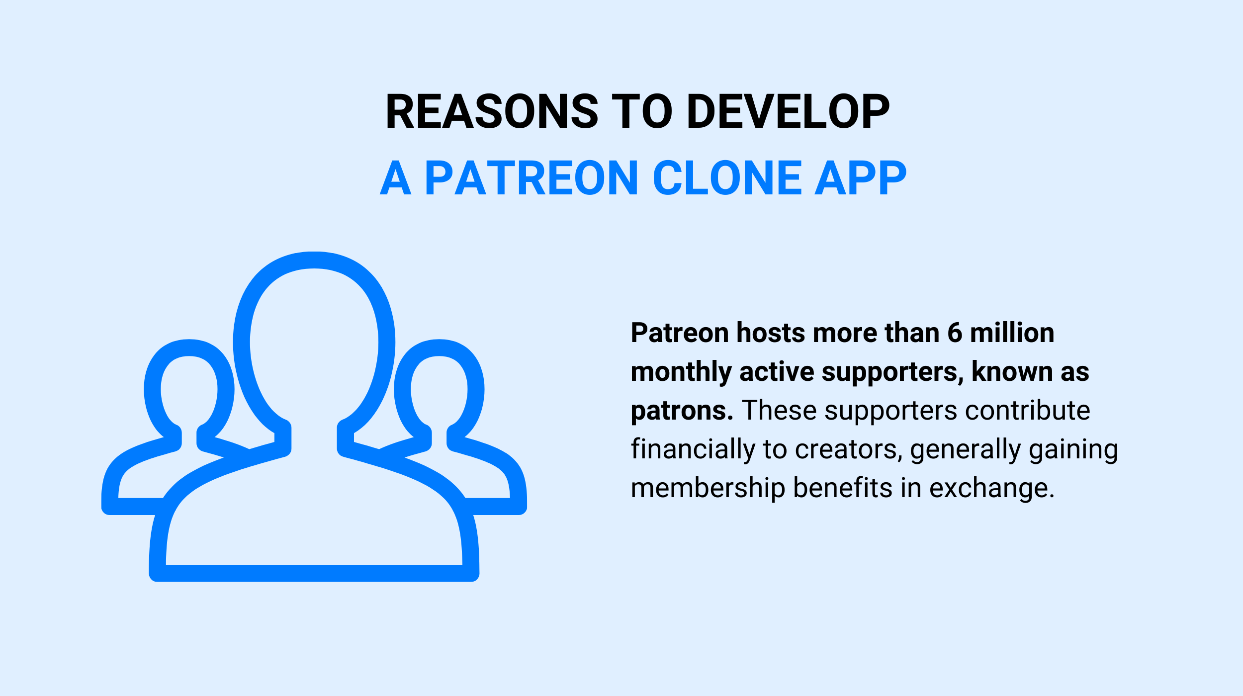 Reasons to Develop a Patreon Clone App